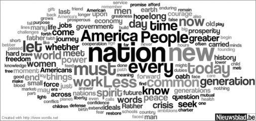 Wordcloud Obama's speech