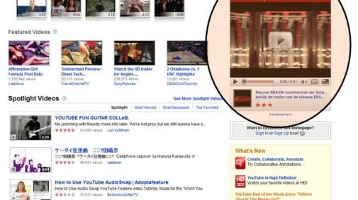 YouTube en Sony zetten in op interest based advertising