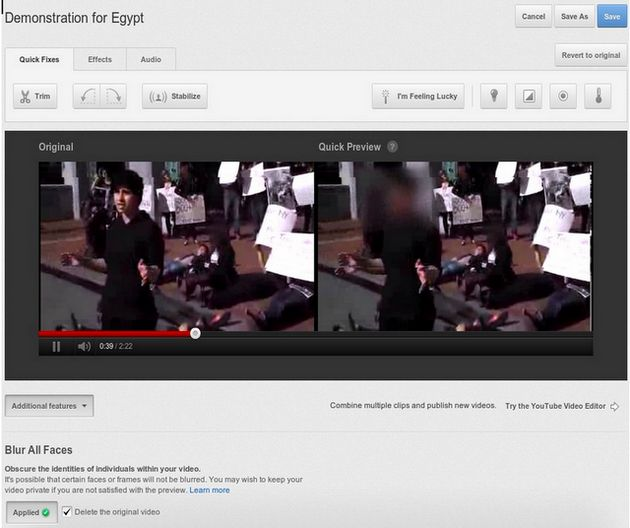 YouTube lanceert 'face blurring'