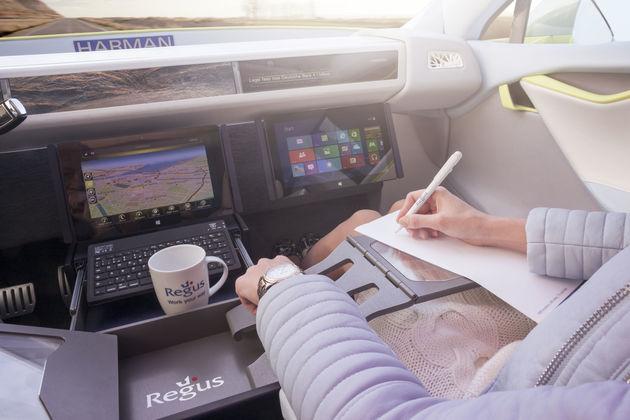 Zelfrijdende auto als kantoor: Mobiel werken