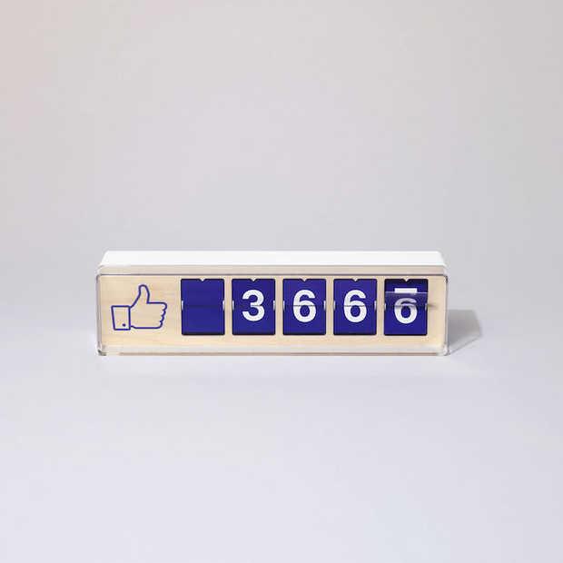 Gave gadget: tastbare social media teller