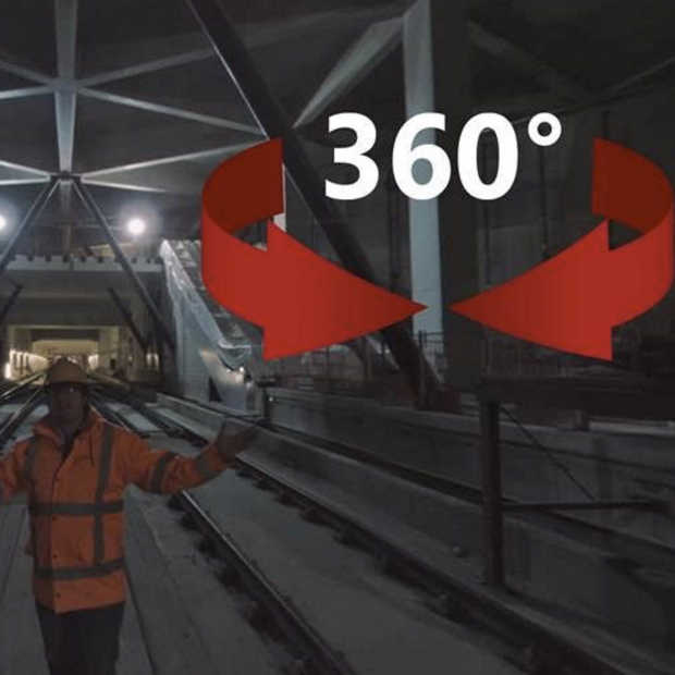 De Noord/Zuidlijn in 360 graden video