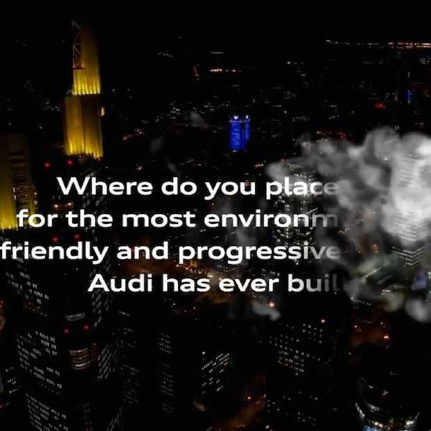 Bijzonder billboard voor Audi die niets anders dan water uitstoot