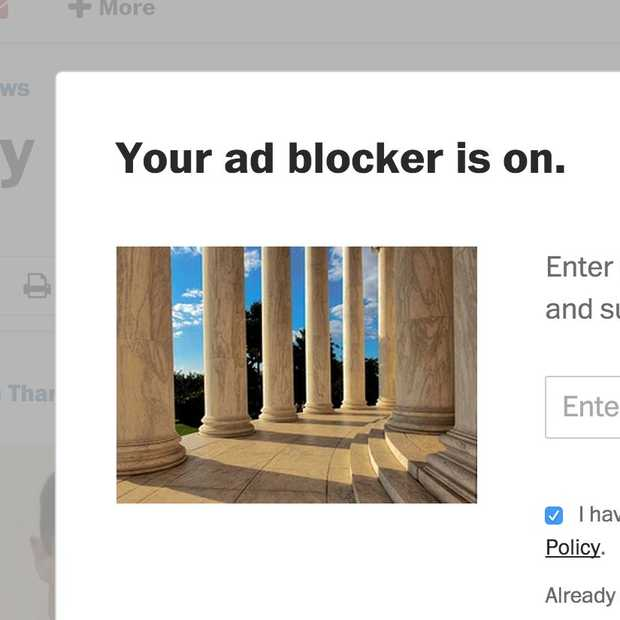 ​The Washington Post blokkeert bezoekers met een Adblocker