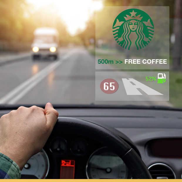 Advertenties op je voorruit tijdens het rijden: dichterbij dan je denkt