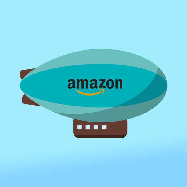 Amazon patent voor vliegende warenhuizen met bezorgdrones gespot