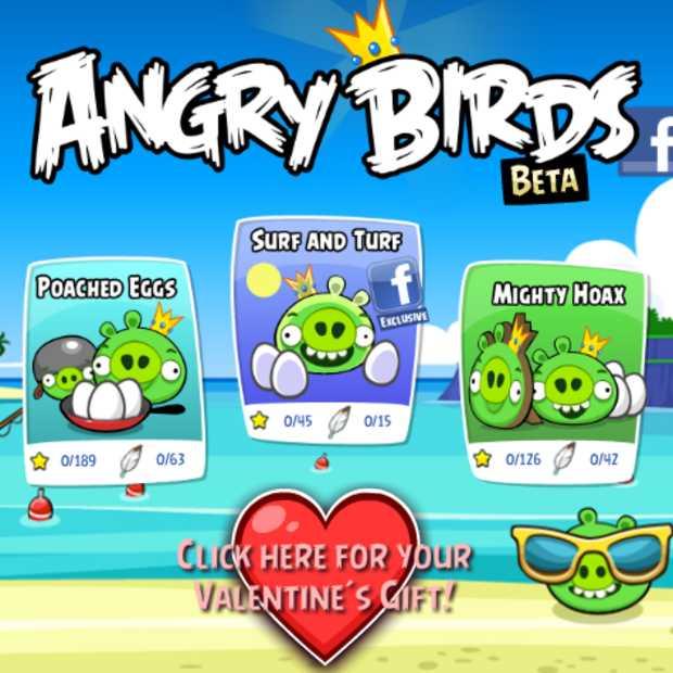 Angry Birds nu op Facebook te spelen met nieuwe content