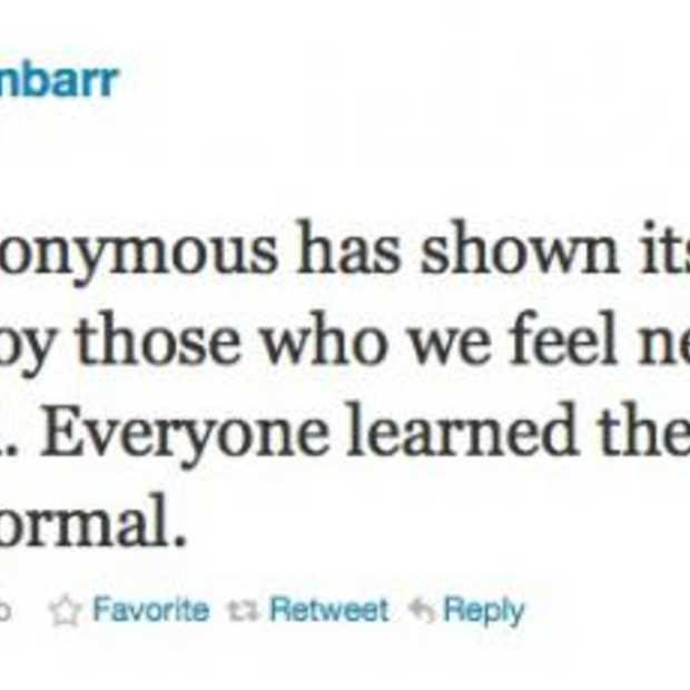 Anonymous doet weer van zich spreken