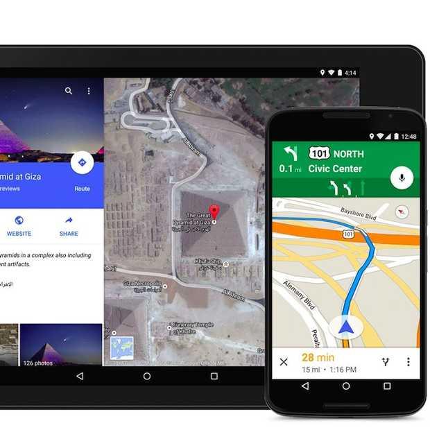 Google Maps app vernieuwd: nieuw design met felle kleuren