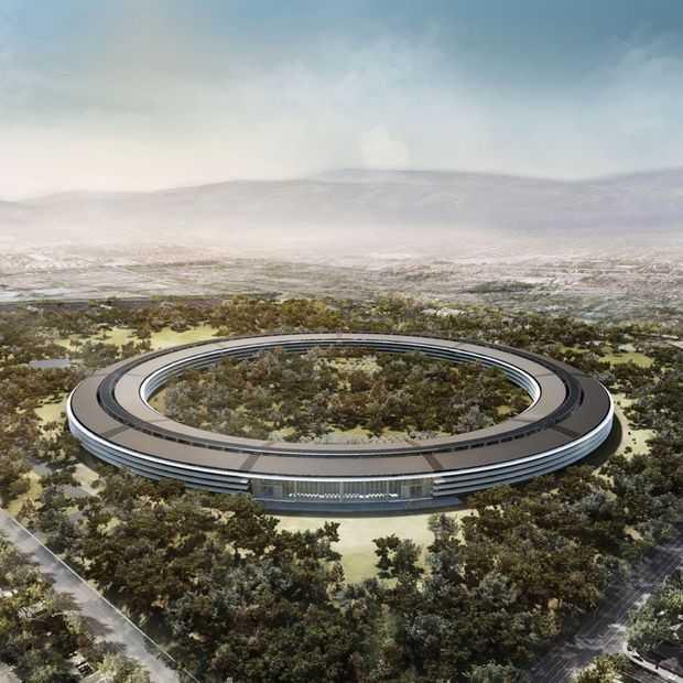De nieuwe Apple campus is bijna klaar, maar aannemers worden gek