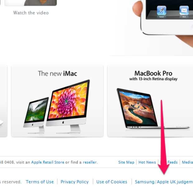 Apple plaatst verklaring Samsung en Galaxy Tab online