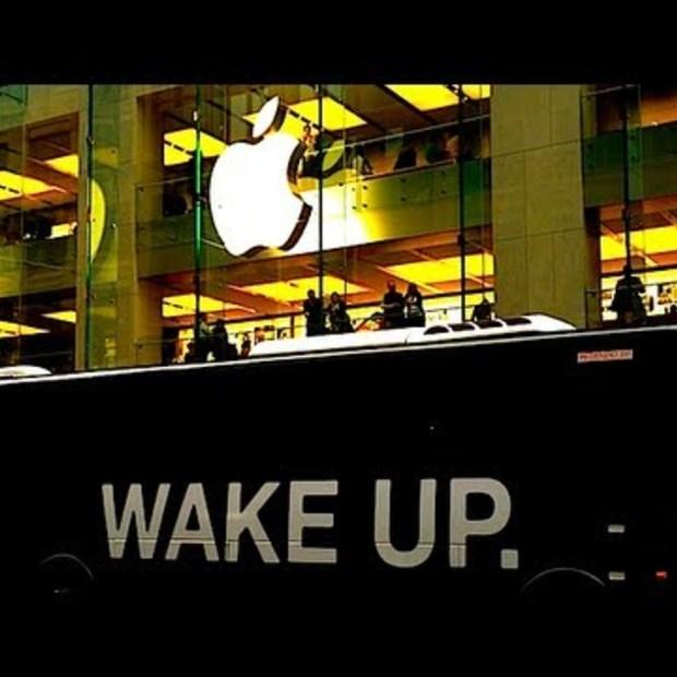 Wake Up Campagne bij Australische Apple Store
