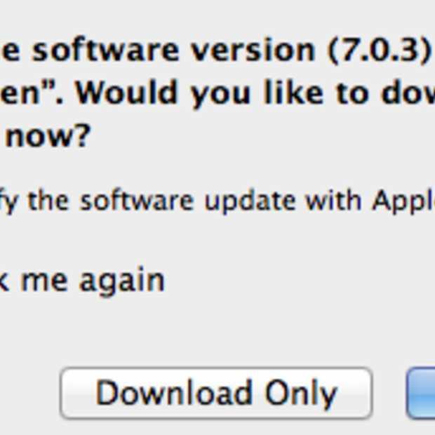 Apple update iOS naar 7.0.3