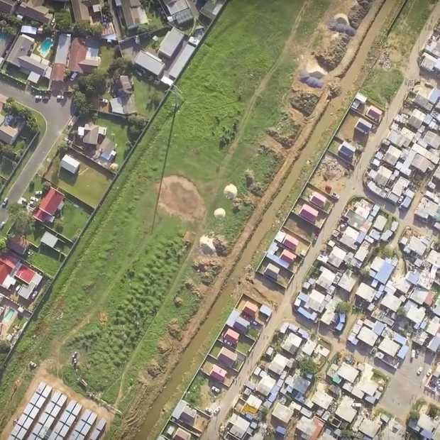 Deze dronevideo's laten zien hoe groot het verschil tussen arm en rijk is