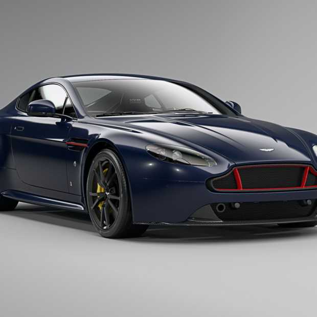 Fotoshoot van de Aston Martin V8 en V12 Vantage S Red Bull Racing Editions