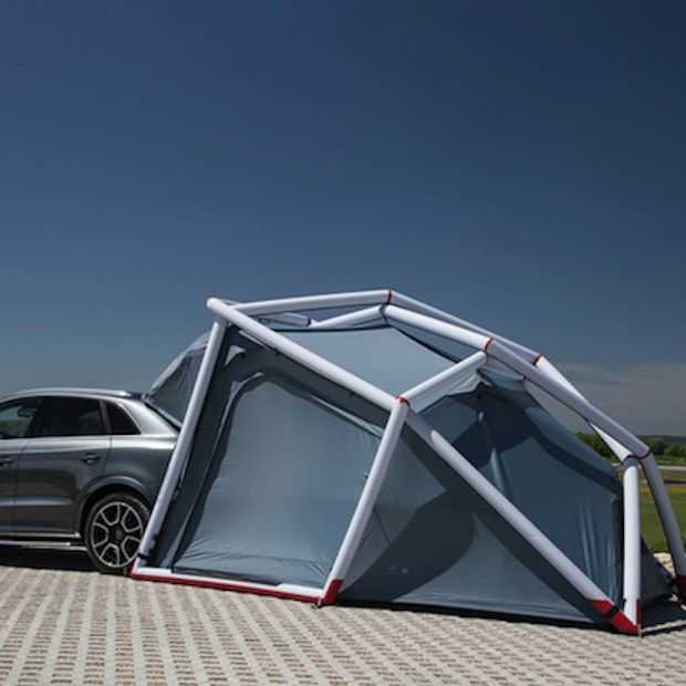 Een tent uit de kofferbak van je Audi ziet er zo uit!