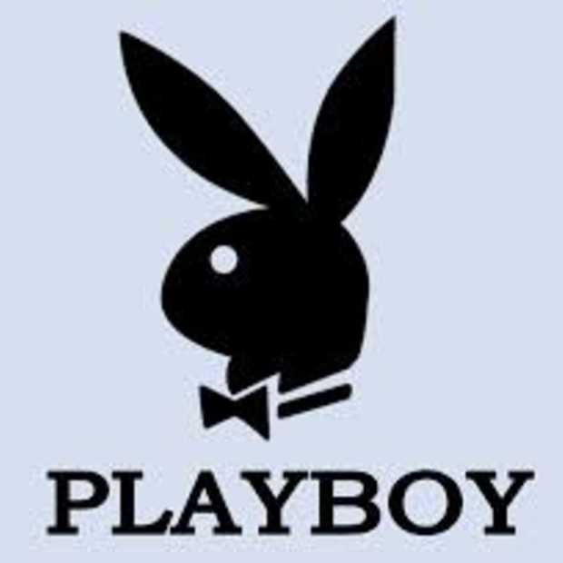 Augmented reality op cover van jubilerende Playboy