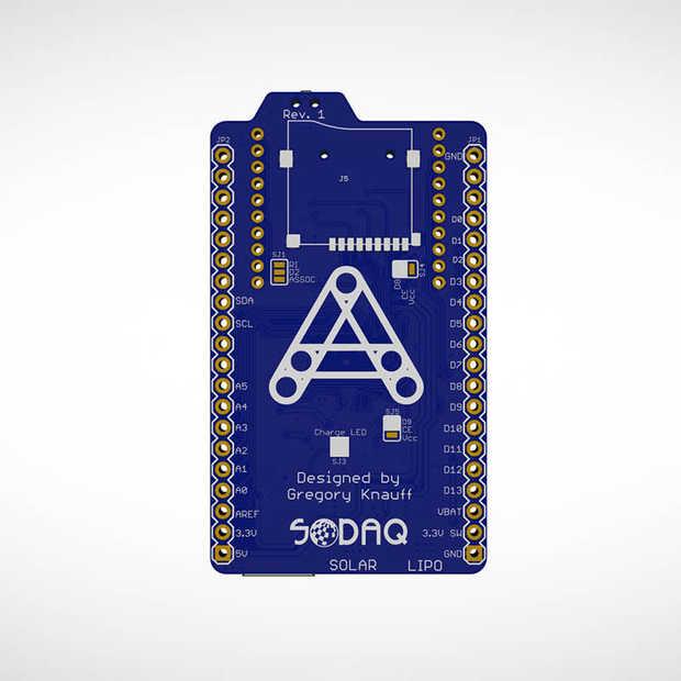 Autonomo: een microcontroller board dat werkt op een mini zonnepaneel