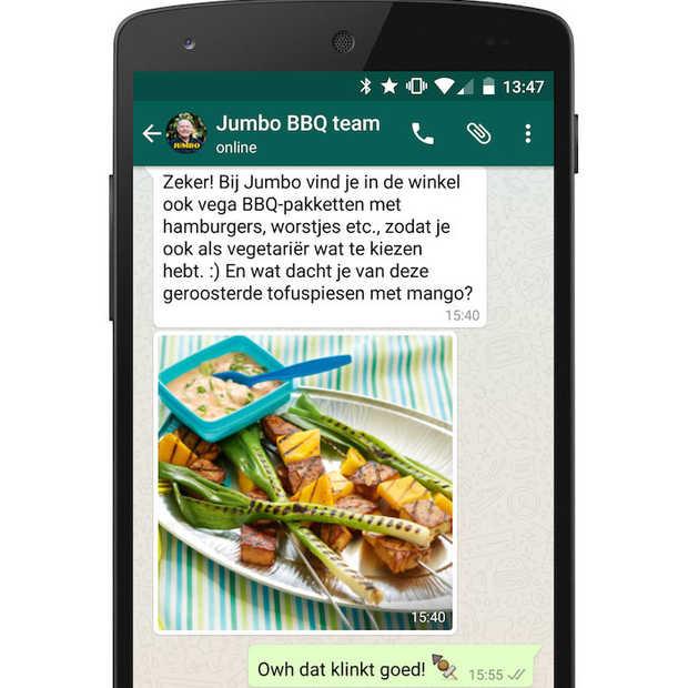 Jumbo lanceert BBQ-service via WhatsApp