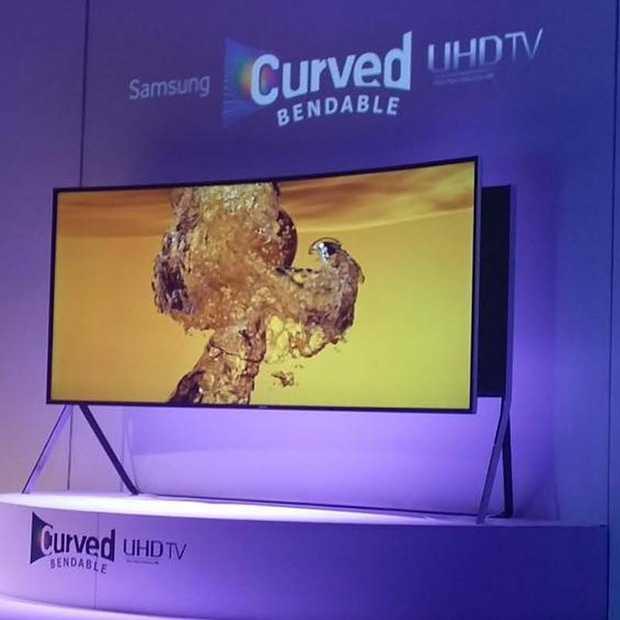 Samsung lanceert een Bendable UHD TV