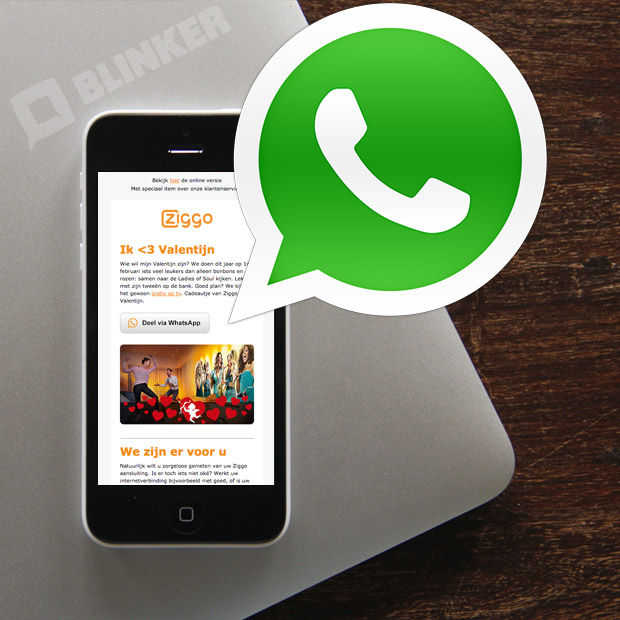 E-mail marketing: hoe deel je artikelen via WhatsApp?