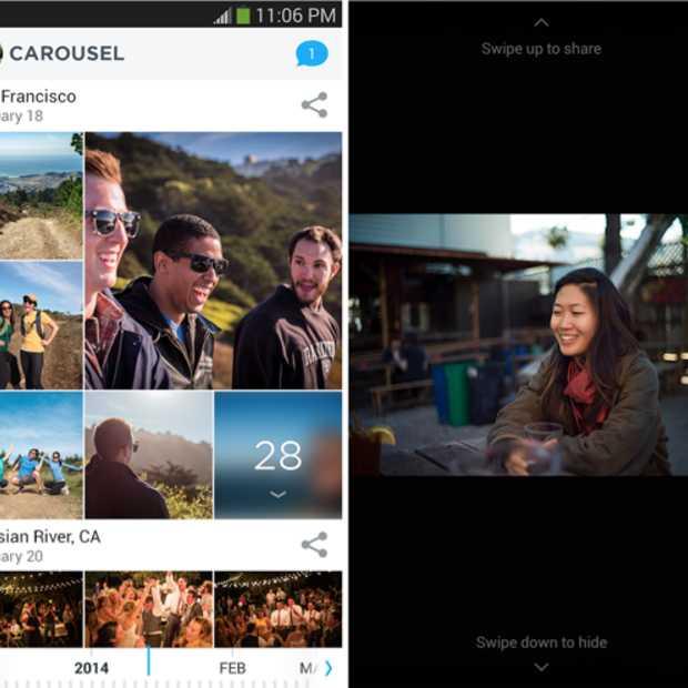 Carousel app verbetert fotomogelijkheden voor Dropbox