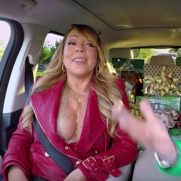 Mariah Carey en haar kerstballen in James Corden's Carpool Karaoke