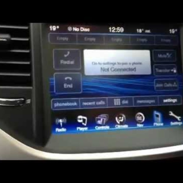 Chrysler 300C met een intelligent 8.4inch touchscreen display