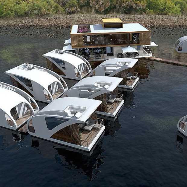 Cool: drijvende hotelkamers!