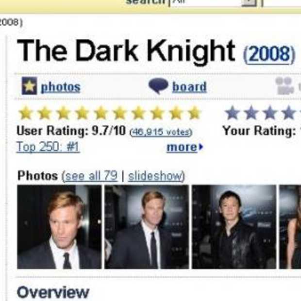 Dark Knight: extreme #1 in IMDB
