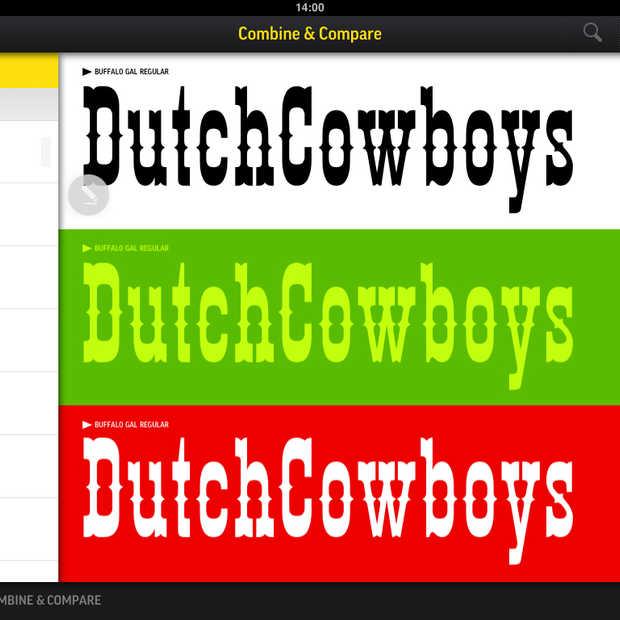 De nieuwe Fontbook app, de digitale letterbak voor designers.
