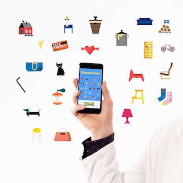 IKEA komt met eigen emoticons app