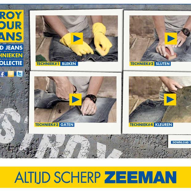 """""""Destroy your jeans"""" - alweer een mooie (marketing) actie van de Zeeman"""