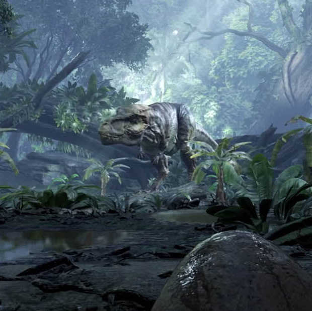 Face-to-face met een dinosaurus in virtual reality