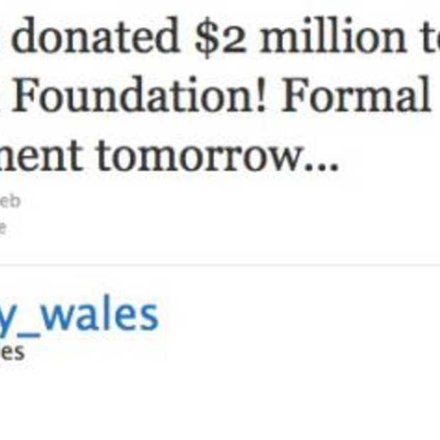 Donatie van 2 miljoen aan de Wikimedia Foundation