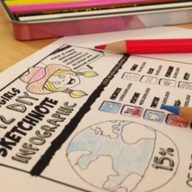 Download de Dutchcowgirls 2012 DIY Jaaroverzicht Sketchnote Infographic en steun Serious Request!