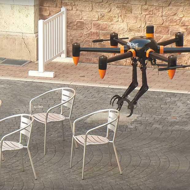 Dit is de eerste drone met twee armen