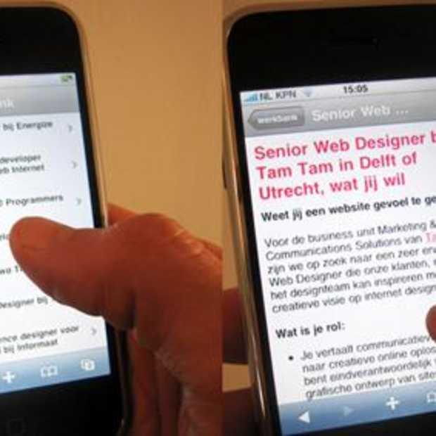 Eerste Nederlandse vacaturesite met speciale iPhone-versie