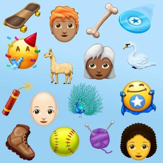 Zo gaan de 2018 kandidaat-emoji er ongeveer uitzien