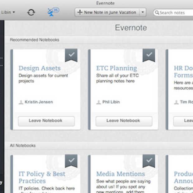 Evernote Business geïntroduceerd in Europa