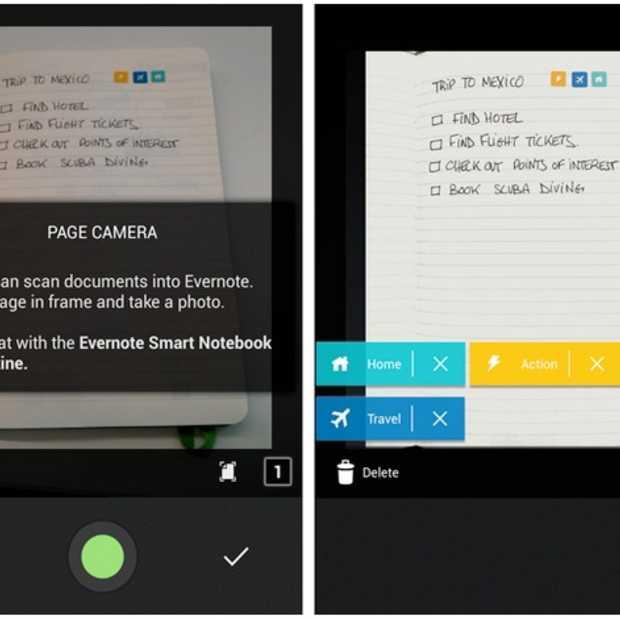 Evernote voor Android krijgt ondersteuning Page Camera