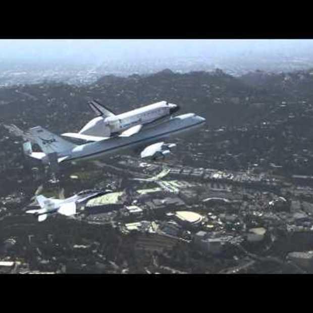 Video van Space Shuttle Endeavour's vlucht over California