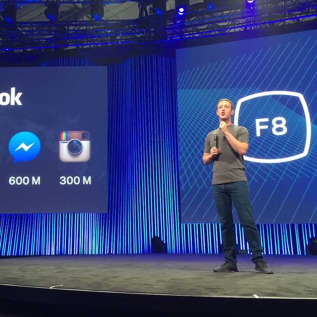 Facebook kondigt chatbots en eigen VR-camera aan