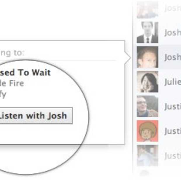 Facebook maakt muziek luisteren social