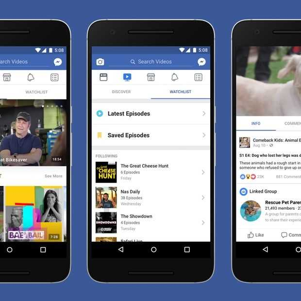 Facebook's 'Watch' videokanaal van start in Amerika