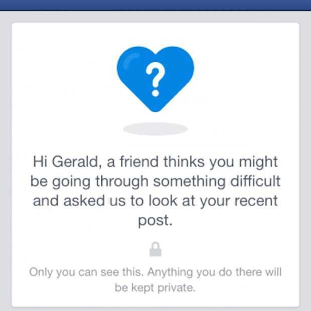 Facebook wil gebruikers met depressieve gedachten helpen