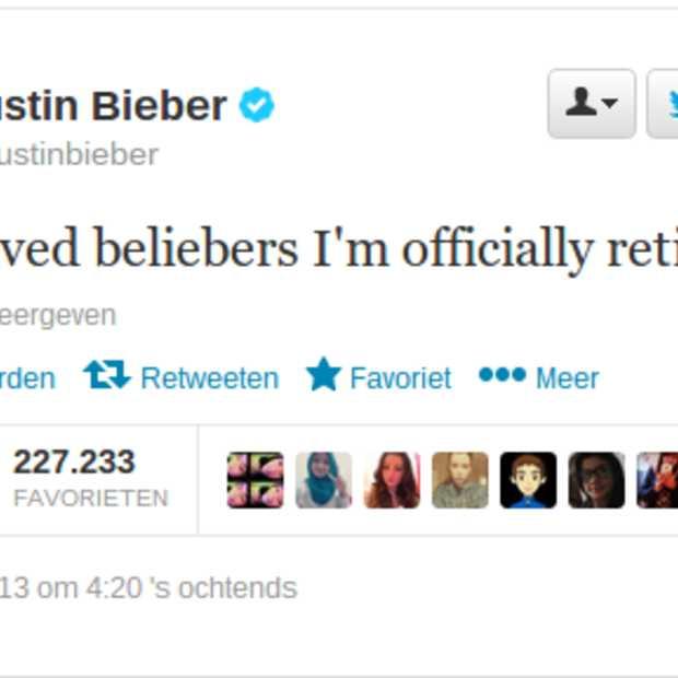 Fans van Bieber in rep en roer door Tweet op eerste Kerstdag