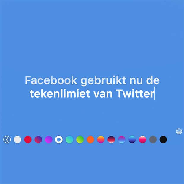 Facebook gebruikt nu de tekenlimiet van Twitter