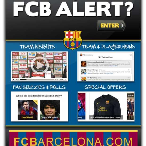 FC Barcelona lanceert Facebook app: FCB Alert