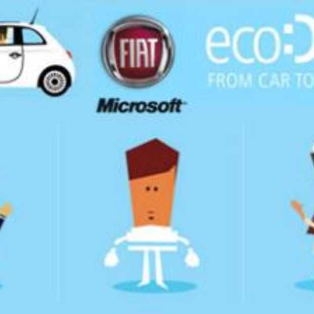 Fiat + Microsoft = het milieuvriendelijke EcoDrive